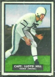 Lloyd Hill 1951 Topps Magic football card