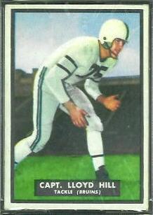Lloyd Hill 1951 Topps Magic football card