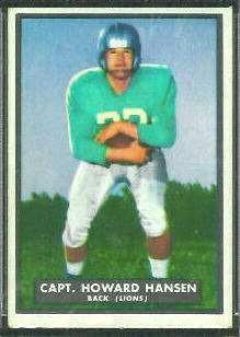 Howard Hansen 1951 Topps Magic football card