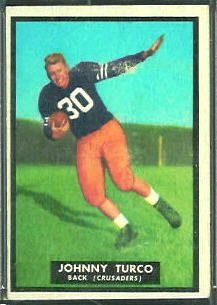 Johnny Turco 1951 Topps Magic football card