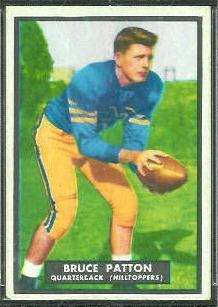 Bruce Patton 1951 Topps Magic football card