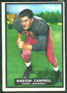 Marion Campbell 1951 Topps Magic football card