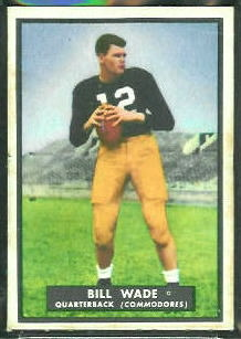 Bill Wade 1951 Topps Magic football card