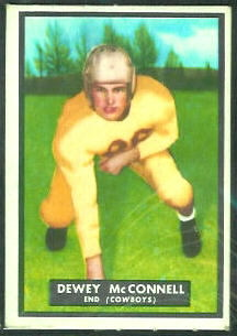 Dewey McConnell 1951 Topps Magic football card