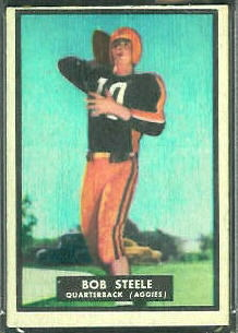 Bob Steele 1951 Topps Magic football card