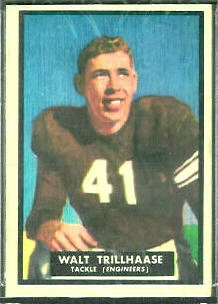 Walt Trillhaase 1951 Topps Magic football card