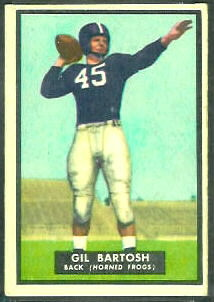 Gil Bartosh 1951 Topps Magic football card
