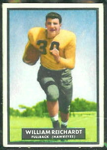 Bill Reichardt 1951 Topps Magic football card