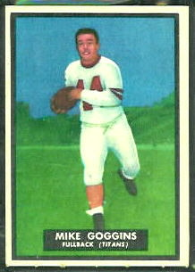 Mike Goggins 1951 Topps Magic football card