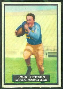 John Petitbon 1951 Topps Magic football card