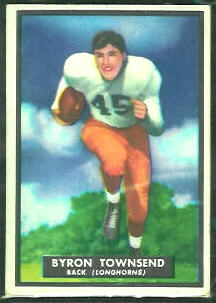 Byron Townsend 1951 Topps Magic football card