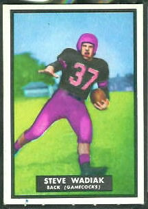 Steve Wadiak 1951 Topps Magic football card