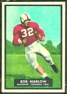Bob Marlow 1951 Topps Magic football card