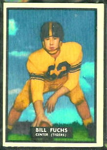Bill Fuchs 1951 Topps Magic football card