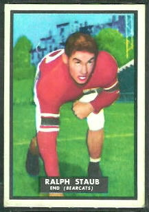 Ralph Staub 1951 Topps Magic football card
