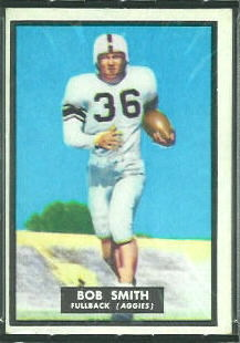Bob Smith 1951 Topps Magic football card