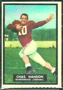Charles Hanson 1951 Topps Magic football card