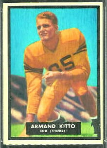 Armand Kitto 1951 Topps Magic football card