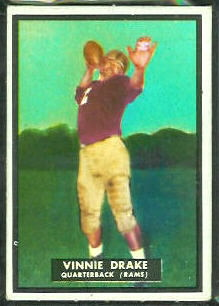 Vinnie Drake 1951 Topps Magic football card