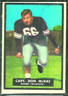 Don McRae 1951 Topps Magic football card