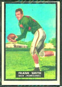 Frank Smith 1951 Topps Magic football card