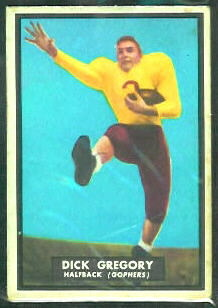 Dick Gregory 1951 Topps Magic football card
