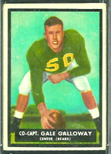 Gale Galloway 1951 Topps Magic football card