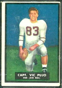Vic Pujo 1951 Topps Magic football card
