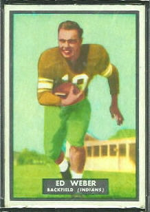 Ed Weber 1951 Topps Magic football card