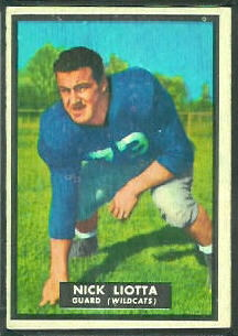 Nick Liotta 1951 Topps Magic football card