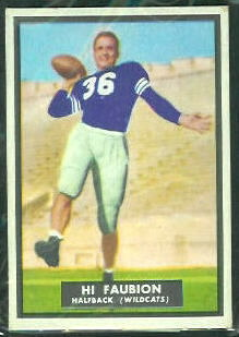 Hi Faubion 1951 Topps Magic football card
