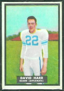 David Harr 1951 Topps Magic football card