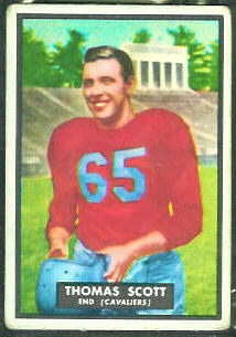 Tom Scott 1951 Topps Magic football card