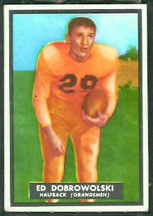 Ed Dobrowolski 1951 Topps Magic football card