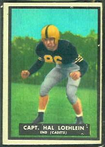 Harold Loehlein 1951 Topps Magic football card
