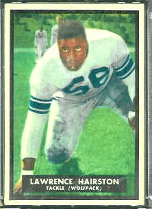 Lawrence Hairston 1951 Topps Magic football card