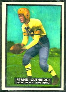 Frank Guthridge 1951 Topps Magic football card