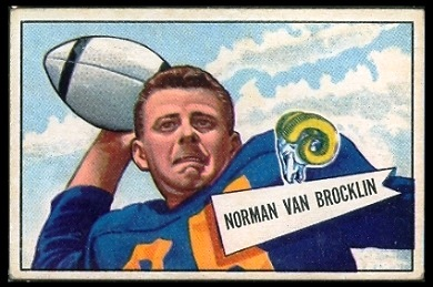 Norm Van Brocklin 1952 Bowman Large football card