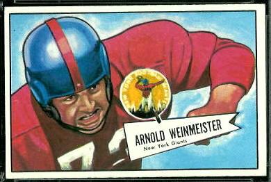 Arnie Weinmeister 1952 Bowman Large football card
