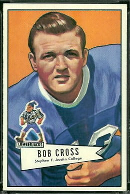 Bobby Cross 1952 Bowman Large football card
