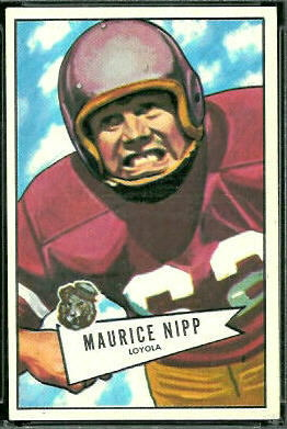 Maurice Nipp 1952 Bowman Large football card