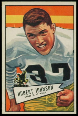 Hubert Johnston 1952 Bowman Large football card