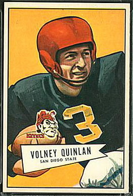 Volney Quinlan 1952 Bowman Large football card
