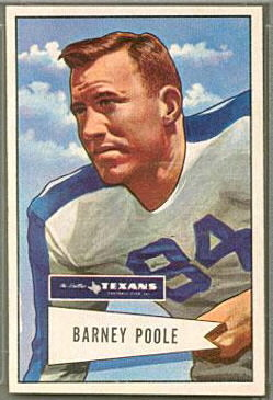 Barney Poole 1952 Bowman Large football card