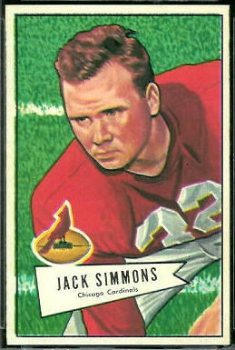 Jack Simmons 1952 Bowman Large football card