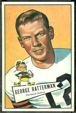 George Ratterman 1952 Bowman Large football card