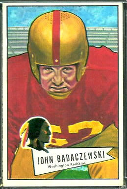 John Badaczewski 1952 Bowman Large football card