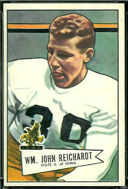 Bill Reichardt 1952 Bowman Large football card