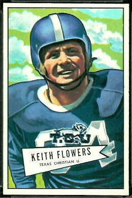 Keith Flowers 1952 Bowman Large football card