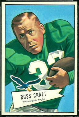 Russ Craft 1952 Bowman Large football card
